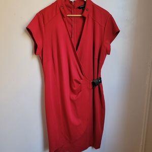 Sharagano red dress